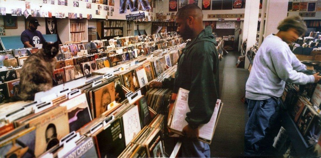The iconic DJ Shadow 'Endtroducing' cover. © DJ Shadow.