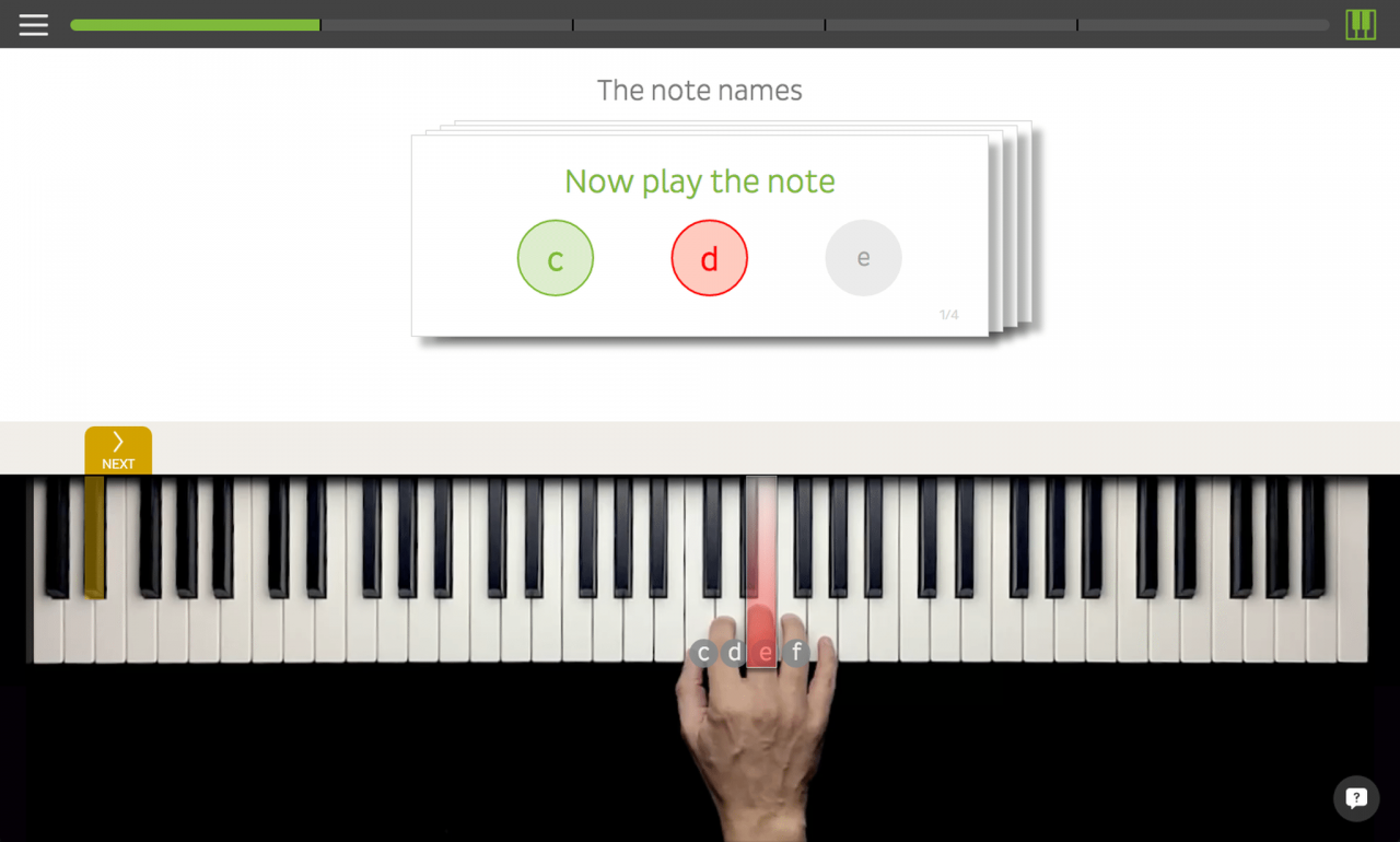 Keyboard lessons on the move with Skoove 3