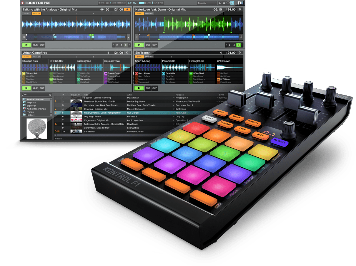 Native Instruments Kontrol F1 and Traktor Pro v2.5