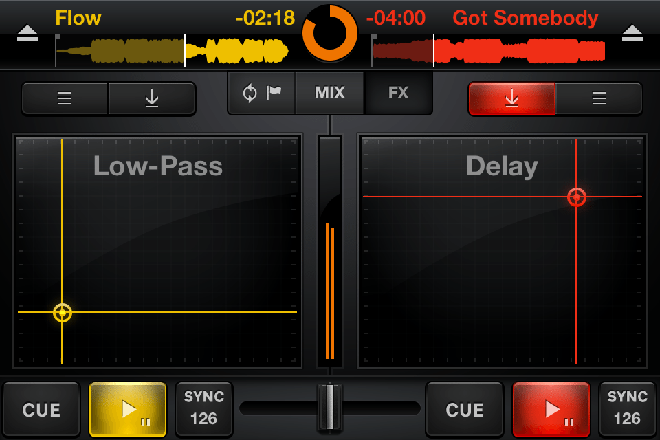 CrossDJ iPhone screen shots 1.0 - effects