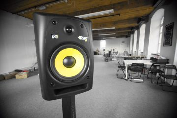 Focusrite forte USB audio interface DJ KRK RP6 monitors