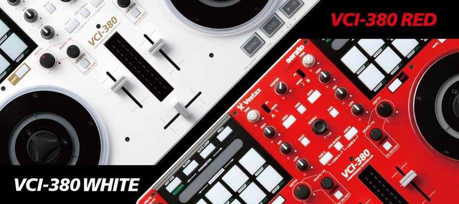 Vestax VCI-380 red and white edition