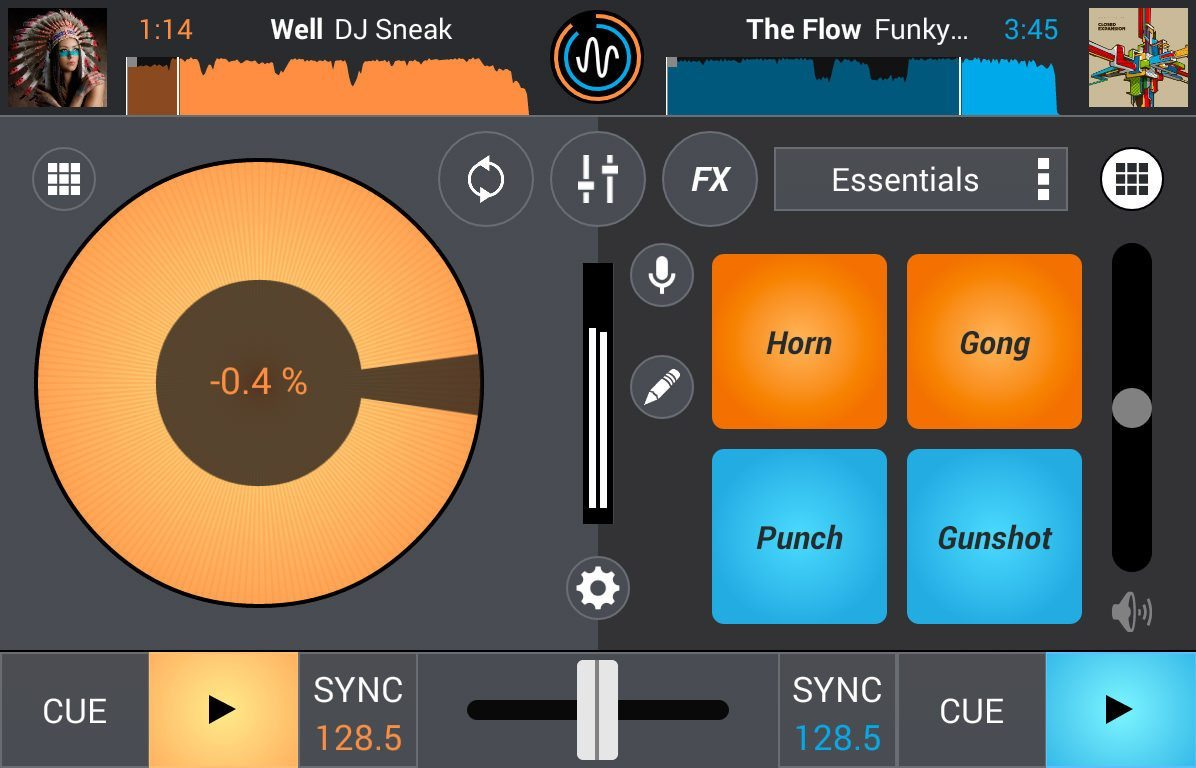 Sampler, keylock, and grids for Mixvibes Cross 1 3 for Android | DJWORX