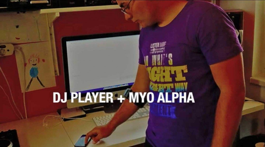 dj player thalamic labs myo armband controller iOS iPad