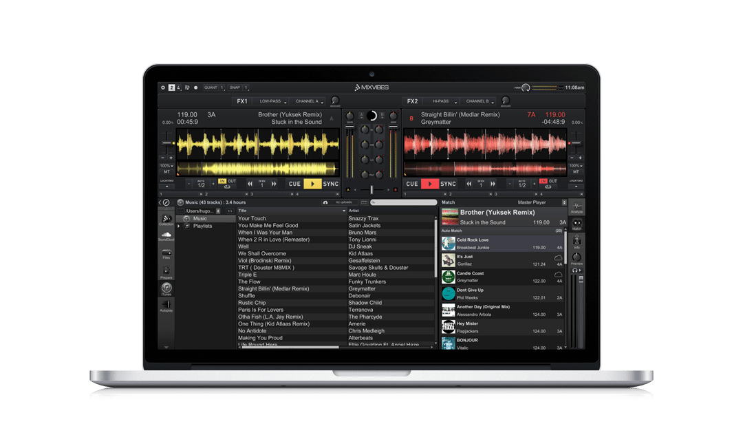 Mixvibes Cross 3.3 goes 64-bit and adds Track Match 3