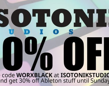 isotonic studios ableton 30% off black friday