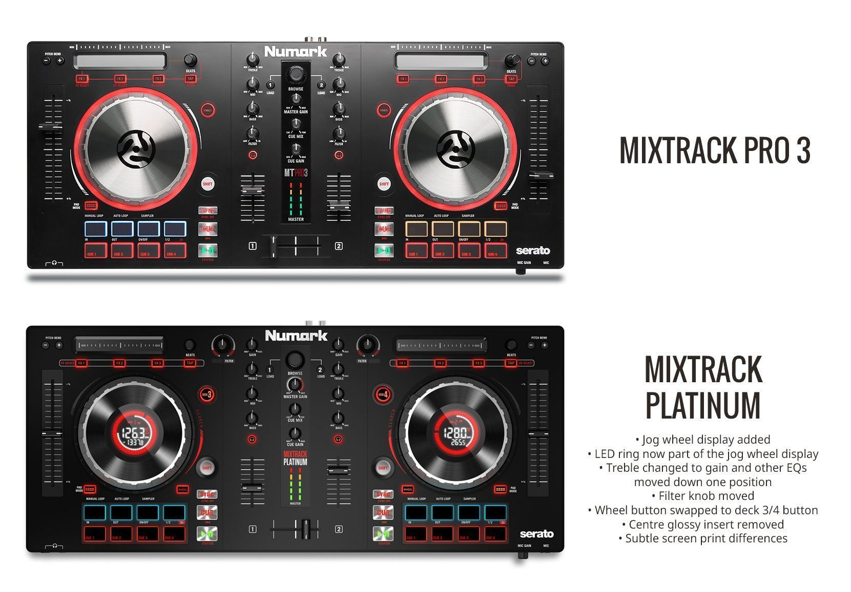 mixtrack platinum they liked it so they put a screen in it djworx. Black Bedroom Furniture Sets. Home Design Ideas