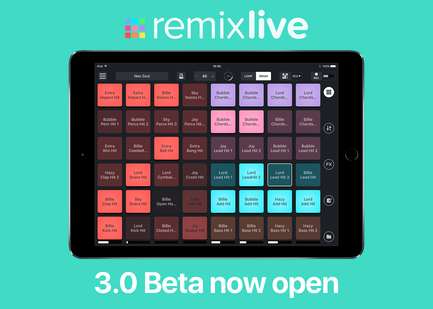 Mixvibes Remixlive 3 iOS beta