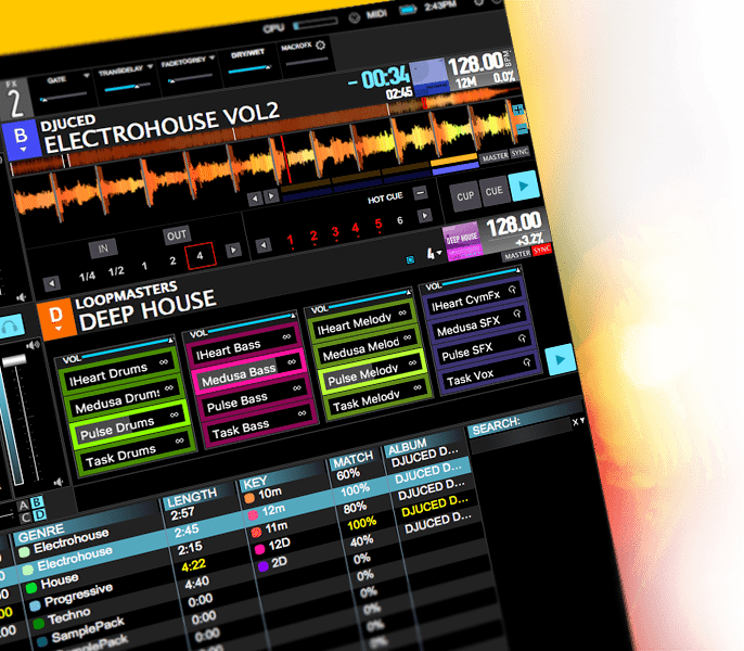 Hercules DJuced 40 DJ software v3.6 (1)