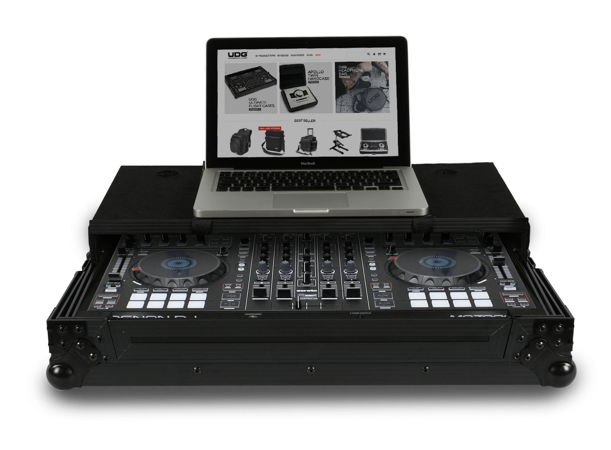UDG Roland DJ808 Denon DJ mc7000 scratch flight cases (3)
