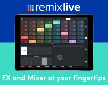 Mixvibes Remixlive 3.5 split screen ios