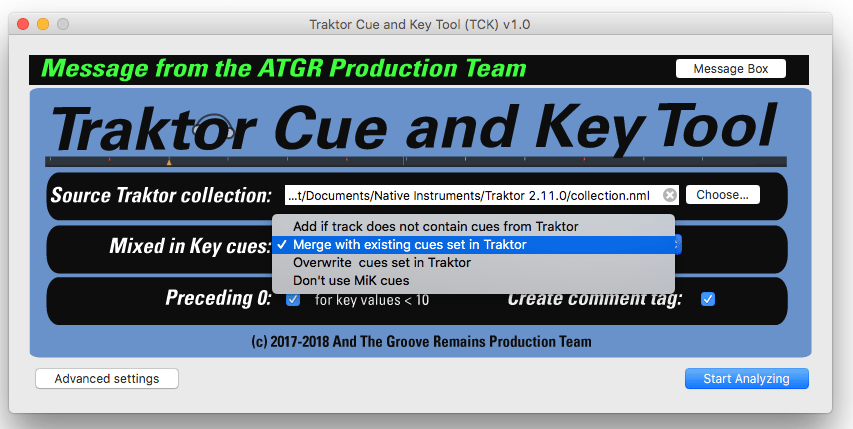 using mixed in key with traktor