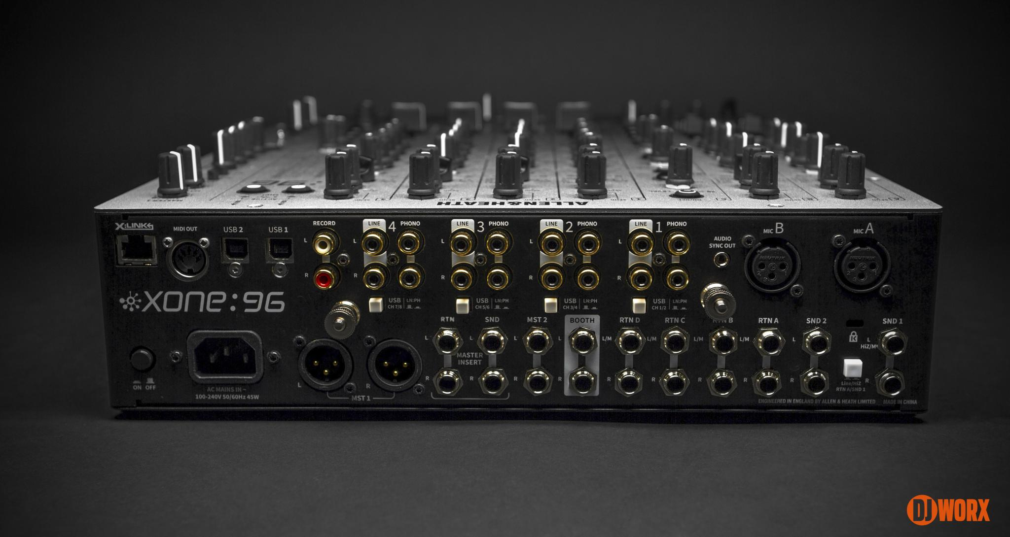 Allen & Heath Xone:96 mixer review first look preview (2)