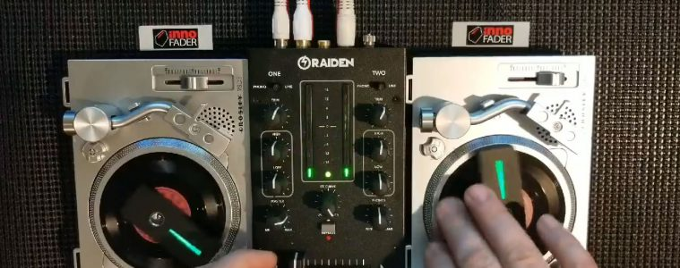 Phase Innofader Raiden Fader Crosley RSD3 turntable