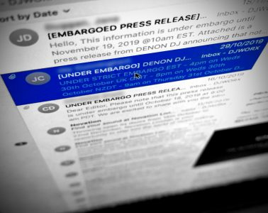 DJWORX press embargo product launch email