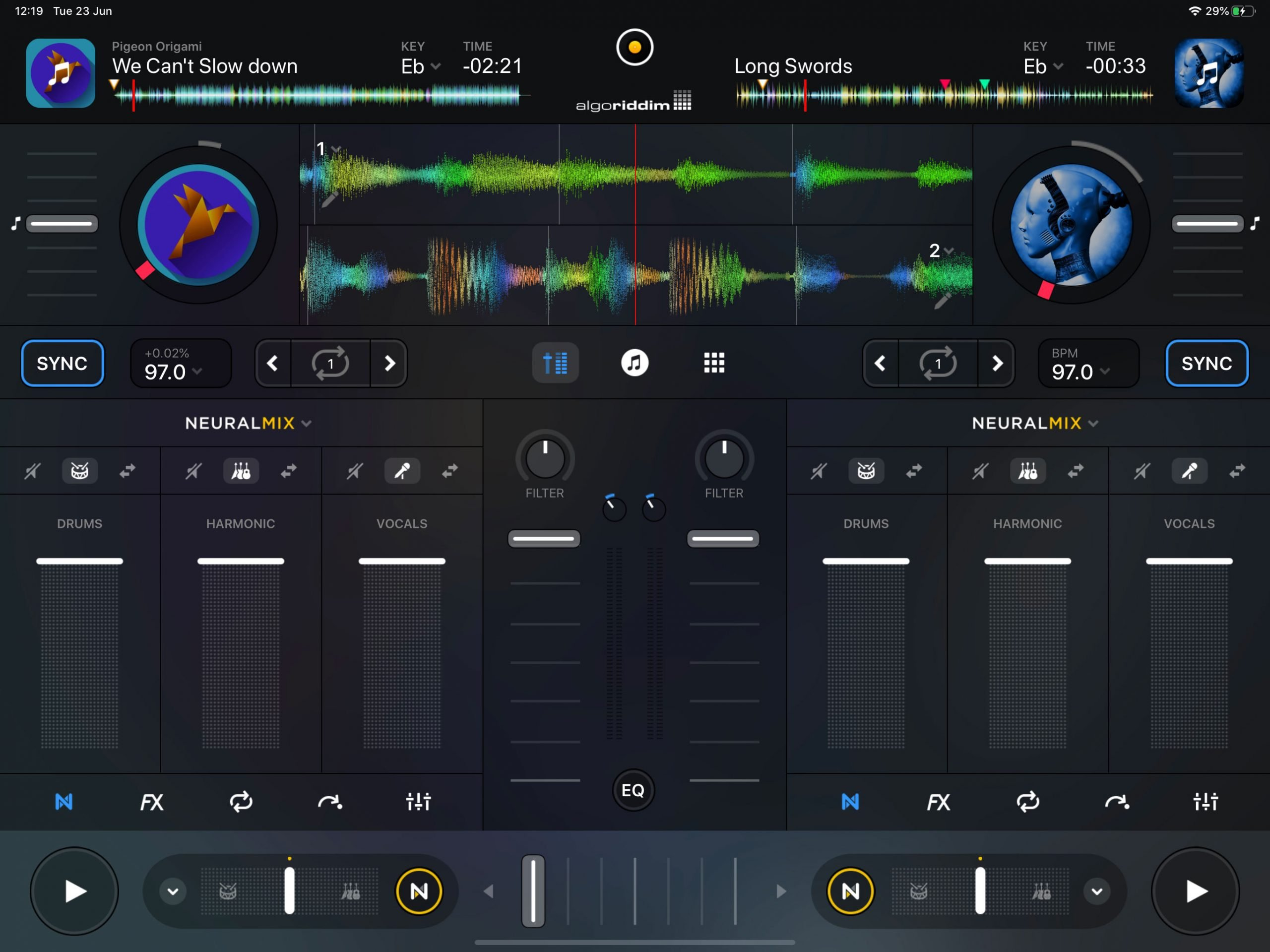 djay Pro AI Neural Mix VirtualDJ 2021 Spleeter stems audio source separation (1)