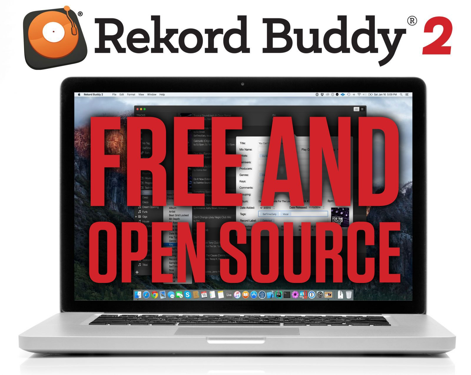 rekord buddy free open source